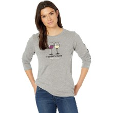 Life is Good Women's Red & White Long Sleeve Crusher Tee