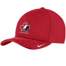 Team Canada IIHF Classic99 Aerobill Swooshflex DRI-FIT Cap - Red | Adjustable