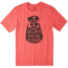 Life is Good Men's Play Like A Pirate Cool Tee