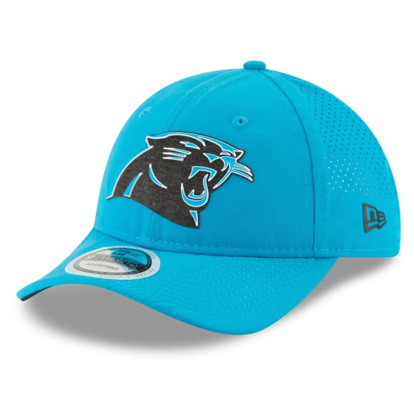 Carolina Panthers New Era 2018 NFL On Field Training Packable 9TWENTY Cap