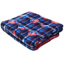 Montreal Expos MLB Plaid Soft Fleece Throw Blanket