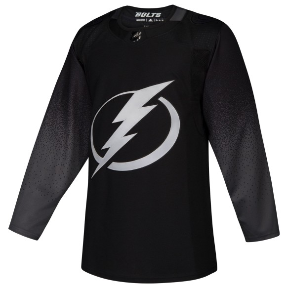 Chandail alternatif adidas adizero LNH Authentique Noir des Lightning de Tampa Bay