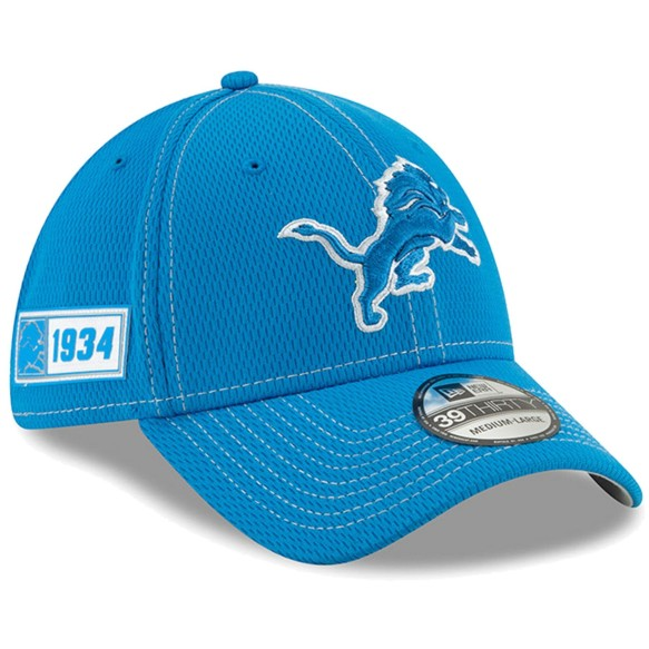 Detroit Lions New Era 2019 NFL On Field Road 39THIRTY Cap