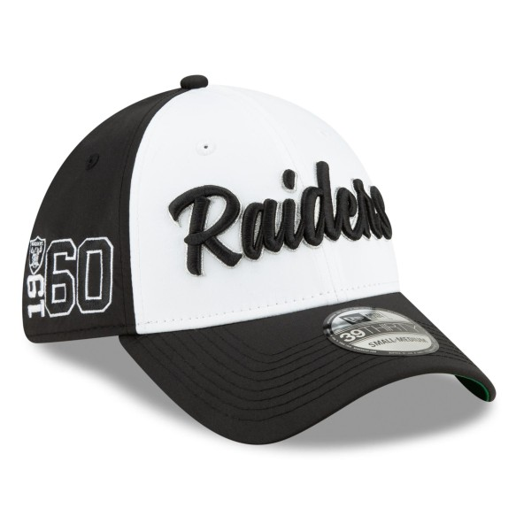 Oakland Raiders New Era 2019 NFL On Field Home Alternate 39THIRTY Cap -White-Black