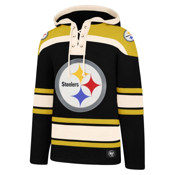 Pittsburgh Steelers NFL '47 Heavyweight Jersey Lacer Hoodie
