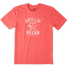 Life is Good Men's Grillin' Like A Villain Crusher Tee
