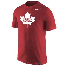 Team Canada IIHF Reflective Leaf Logo Tri-Blend T-Shirt - Red
