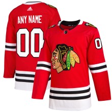 Chicago Blackhawks ANY NAME adidas NHL Authentic 2019-20 Pro Home Jersey - Pro Stitched