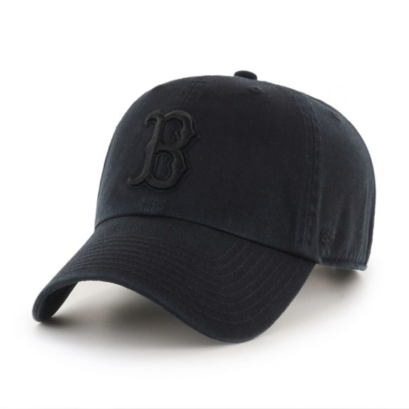Boston Red Sox MLB Black on Black '47 Clean Up Cap | Adjustable