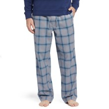 Life is Good Men's Classic Blue Plaid Sleep Pant  - Slate Gray
