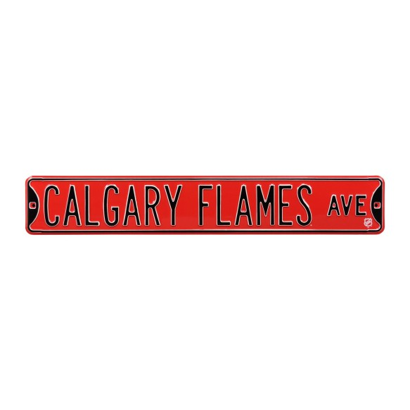 Calgary Flames NHL Authentic Steel Street Sign