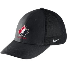 Team Canada IIHF Classic99 Aerobill Mesh Swooshflex DRI-FIT Cap - Black | Adjustable