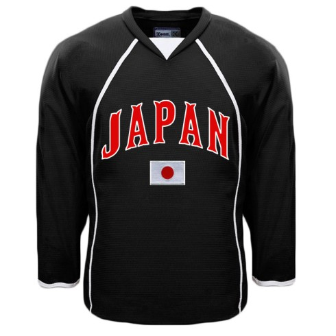 Japan MyCountry Fan Hockey Jersey - Black