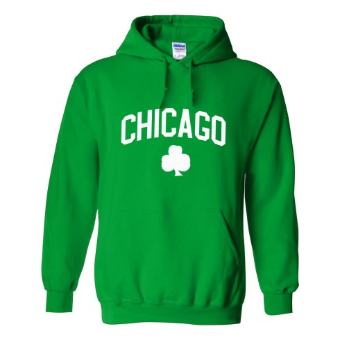Chicago Irish Pride Twill Pullover Hoodie (Kelly)