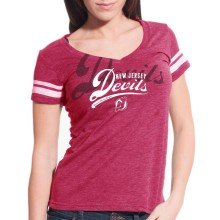 New Jersey Devils Women's Double Take Script V FX T-Shirt
