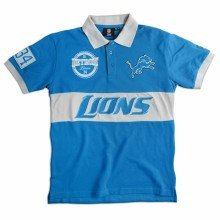 Detroit Lions NFL Wordmark Short Sleeve Rugby Polo