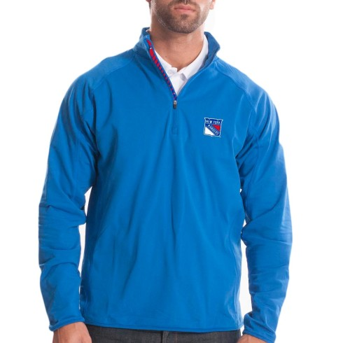 New York Rangers Racing Stripes Metro Half Zip Trainer Jacket