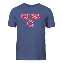 Chicago Cubs Twill Crest Applique Heather Jersey T-Shirt