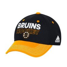 Boston Bruins Adidas NHL Authentic Pro Locker Room Flex Cap - Black