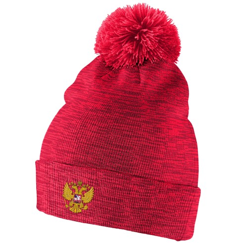 Team Russia IIHF Cuffed Pom Knit Hat