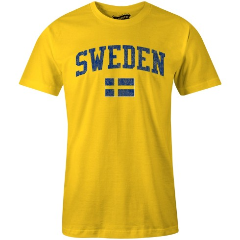 Sweden MyCountry Vintage Jersey T-Shirt (Gold)