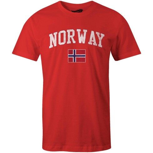 Norway MyCountry Vintage Jersey T-Shirt - Red