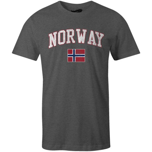 Norway MyCountry Vintage Jersey T-Shirt - Charcoal Heather