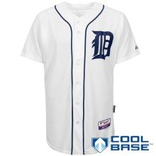 Detroit Tigers Authentic COOL BASE Home MLB Baseball Jersey