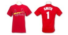 St Louis Cardinals Ozzie Smith Cooperstown Player Name & Number T-Shirt (Red)