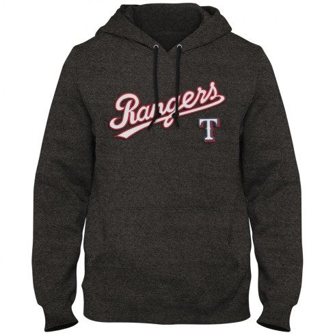 Texas Rangers MLB Express Twill Logo Home Field Hoodie - Twisted Charcoal