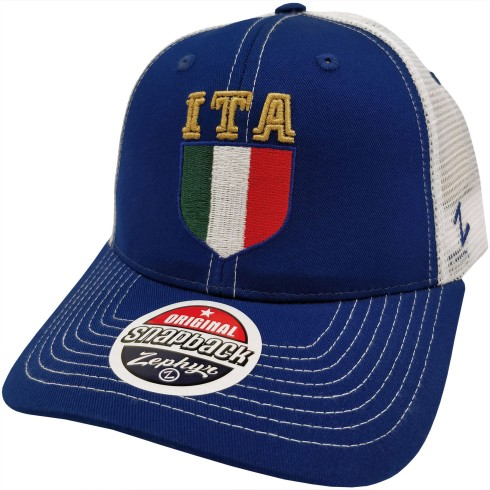 Italia MyCountry Zephyr Initials Meshback Cap | Adjustable