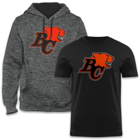 BC Lions CFL Express Twill Hoodie & T-Shirt Bundle