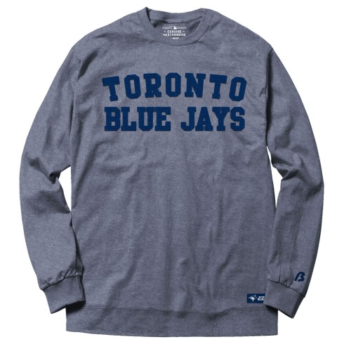 Toronto Blue Jays MLB Chenille Crew Sweatshirt - Heather Blue