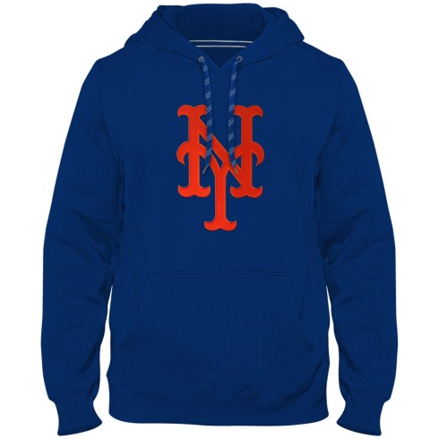 New York Mets MLB Express Twill Logo Hoodie - Royal Blue