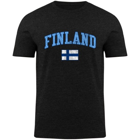 Finland MyCountry Vintage Jersey T-Shirt - Black Heather