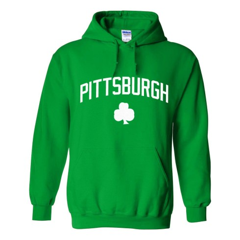 Pittsburgh Irish Pride Twill Pullover Hoodie (Kelly)