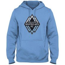 Vancouver Whitecaps FC MLS Twill Logo Hoodie - Light Blue