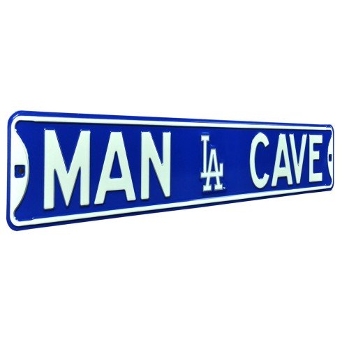 Los Angeles Dodgers MLB MAN CAVE Authentic Steel Street Sign