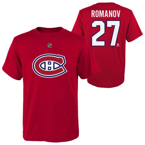 Montreal Canadiens Alexander Romanov NHL YOUTH Player Name & Number T-Shirt