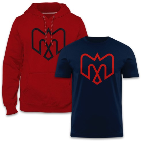 Montreal Alouettes CFL Express Twill Hoodie & T-Shirt Bundle