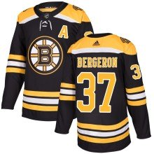 Patrice Bergeron Boston Bruins adidas NHL Authentic Pro Home Jersey - Pro Stitched