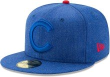 Chicago Cubs Heather Fit 59Fifty Fitted MLB Baseball Cap