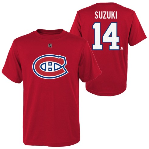 Montreal Canadiens Nick Suzuki NHL YOUTH Player Name & Number T-Shirt