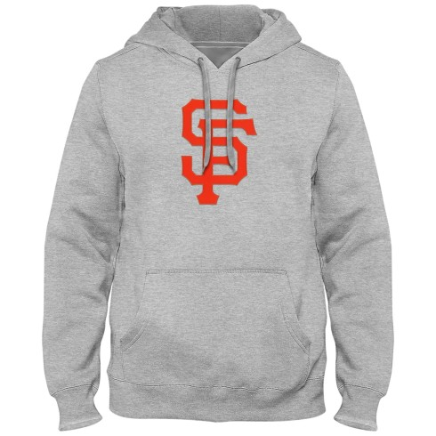 San Francisco Giants MLB Express Twill Logo Hoodie - Athletic Gray
