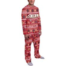 San Francisco 49ers NFL Men's Holiday Wordmark Ugly 2 Piece Pajama Set