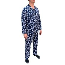 Toronto Maple Leafs NHL Men's Holiday Ugly 2-Piece Button-Up Pajama Set