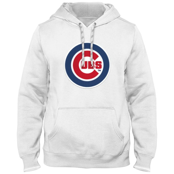 Chicago Cubs MLB Express Twill Logo Hoodie - White