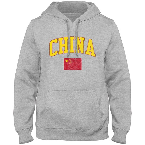 China MyCountry Vintage Premium Hoodie - Athletic Gray