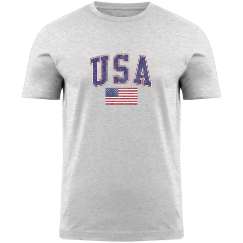 USA MyCountry Vintage Jersey T-Shirt - White Heather