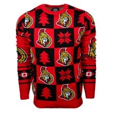 Ottawa Senators NHL Patches 2.0 Ugly Crewneck Sweater